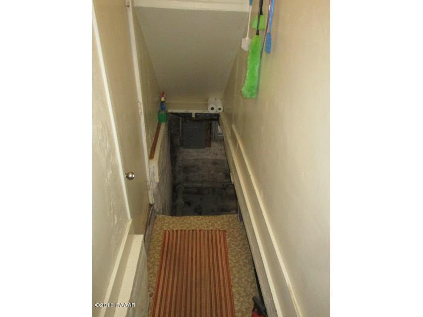 Basement step & Exterior access door