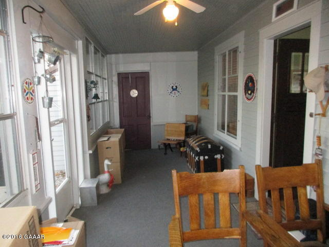 Front porch toward garage