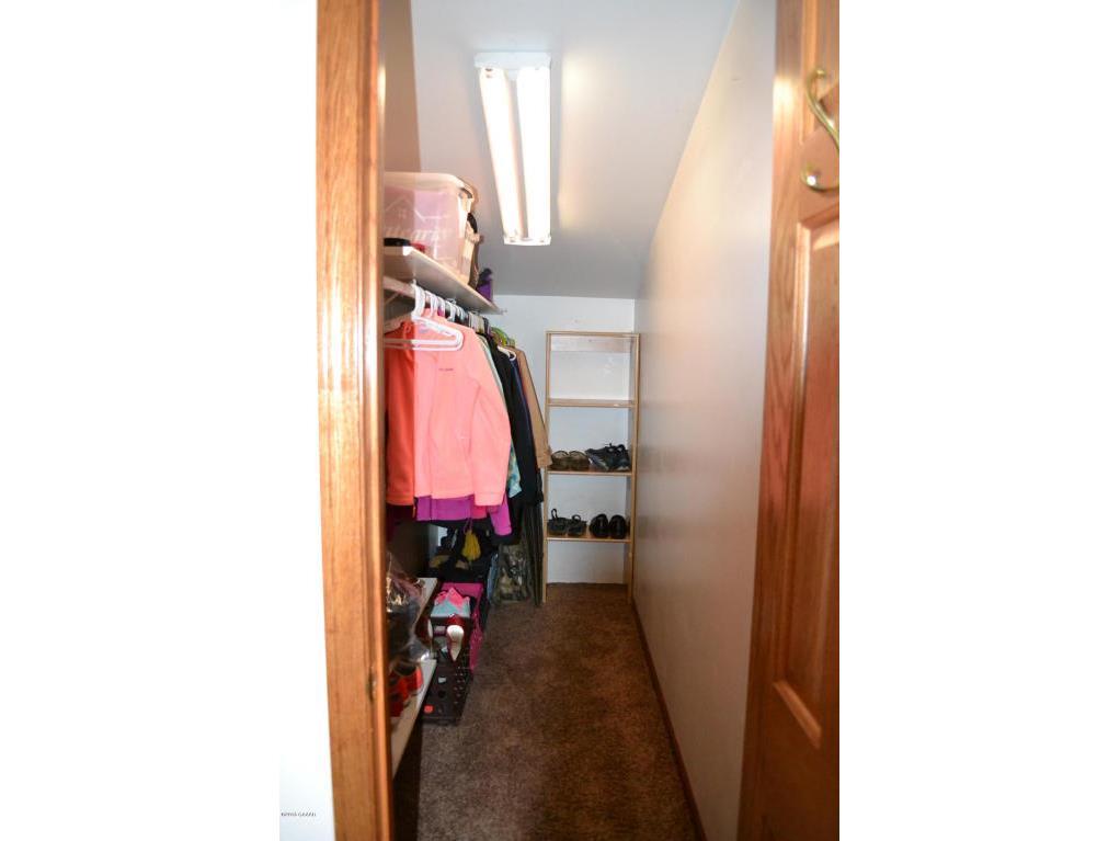 Closet in garage