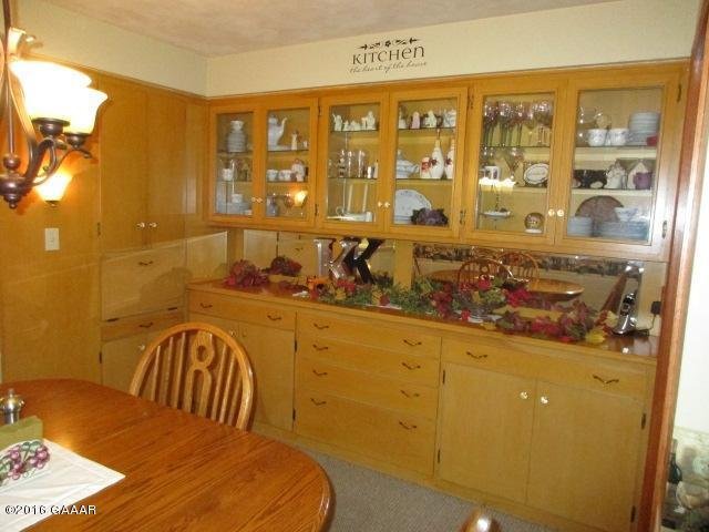 Built in Buffet in dining area