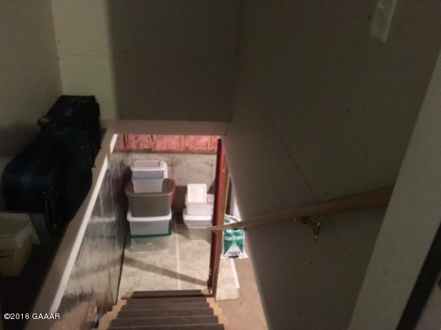 Blom stairs to partial basement