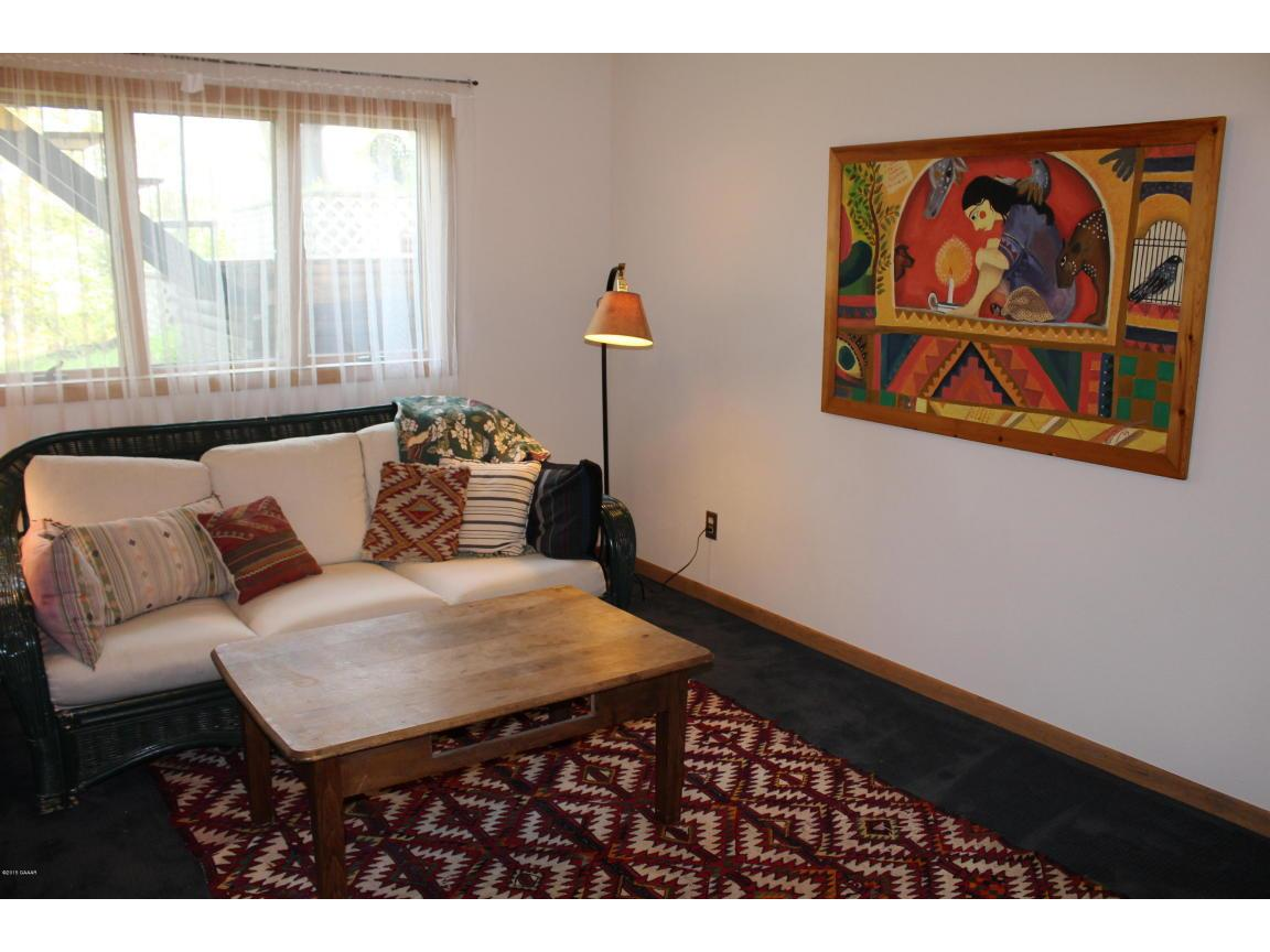 lower level family room with a walk out