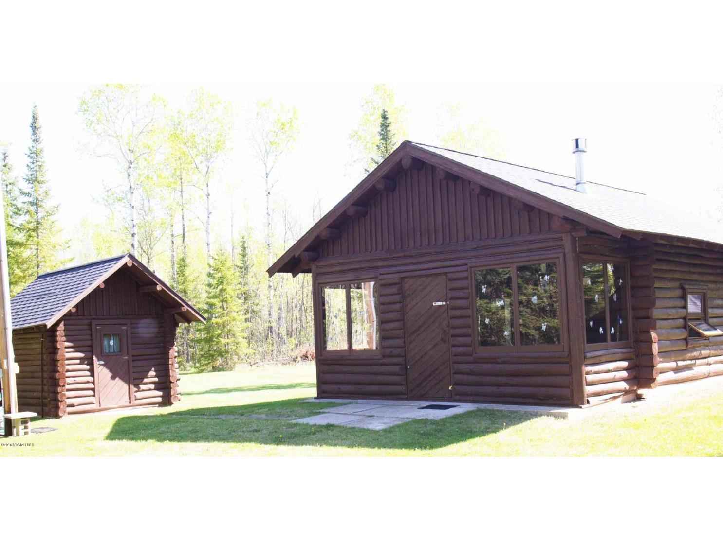 cabin and bunkhouse close up