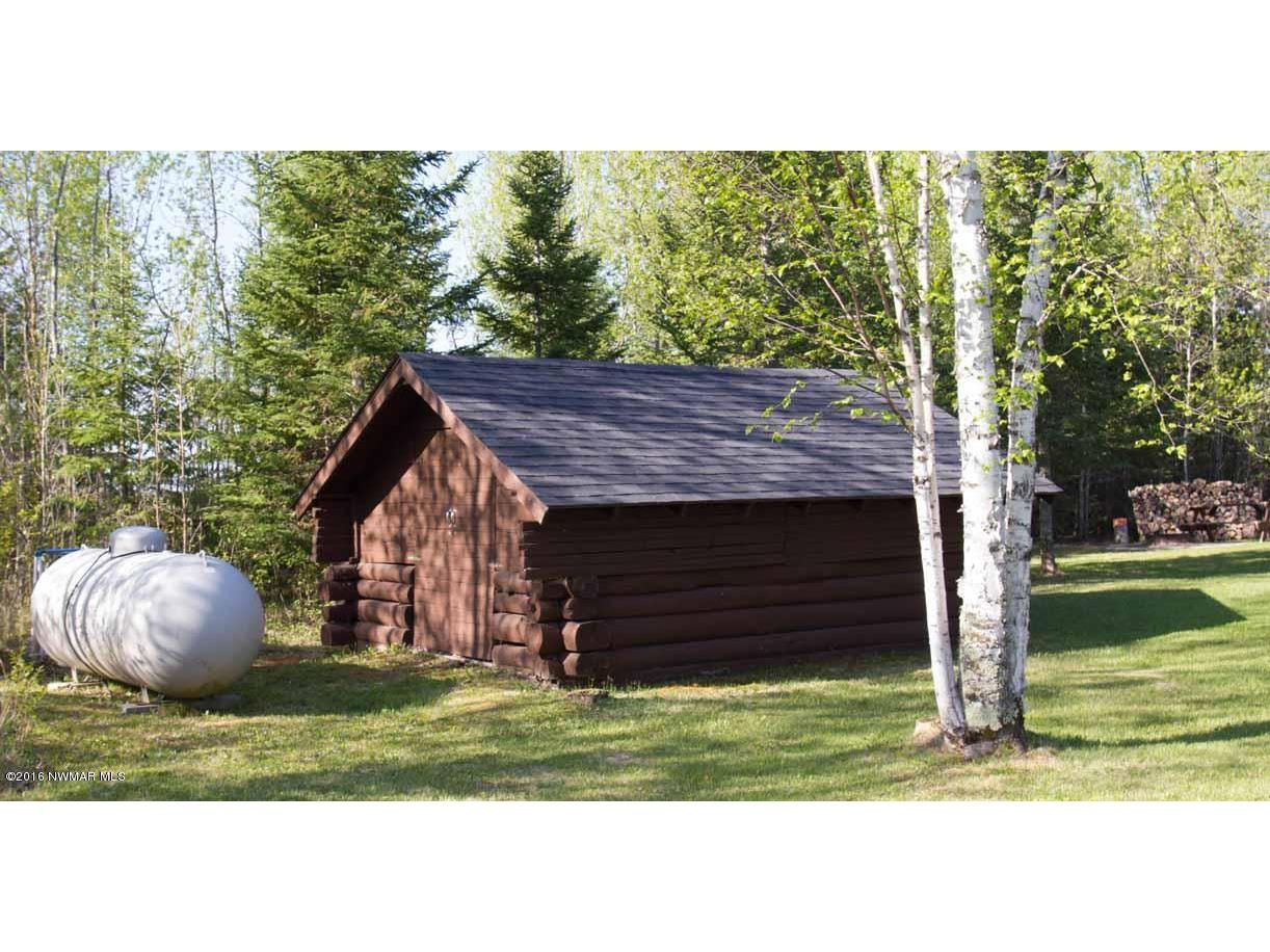 shed and propane tank