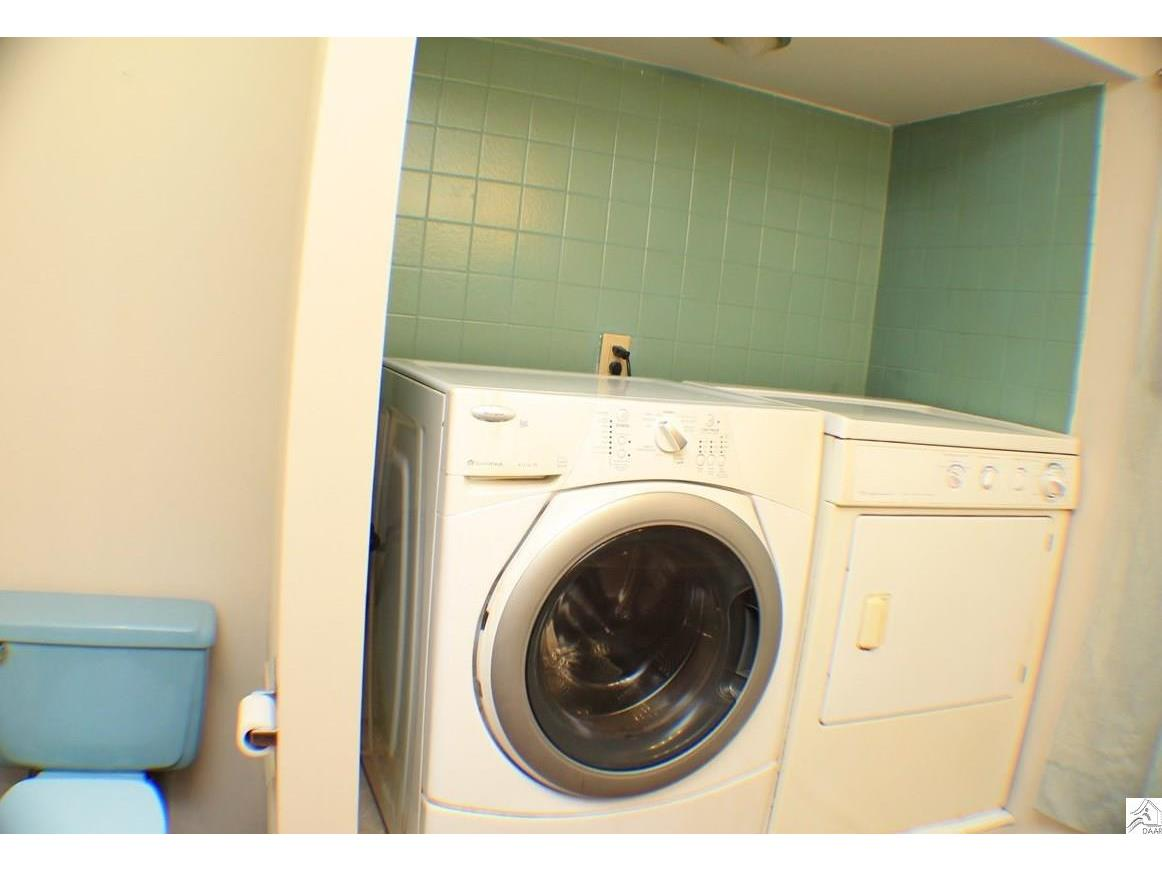 laundry located in bathroom 2 of 3