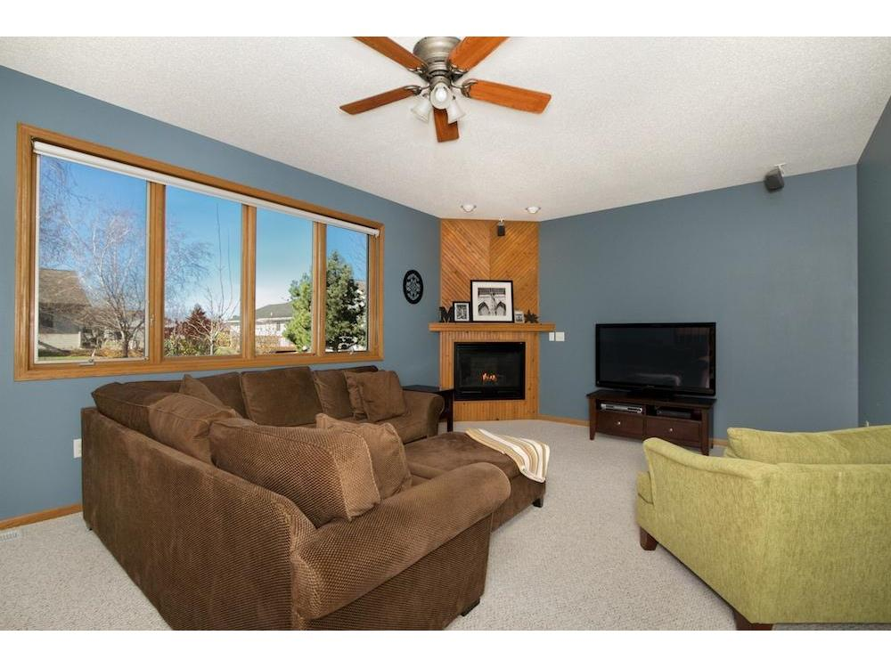 Family room with gas fireplace