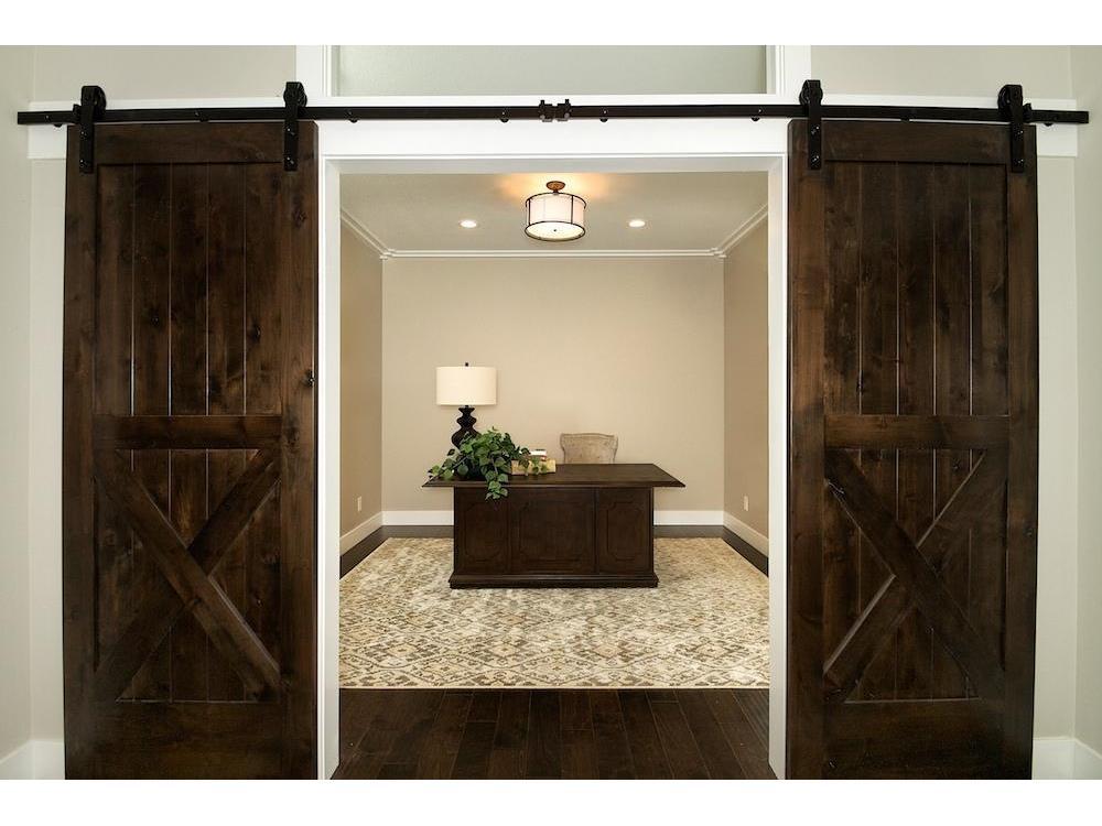 Office With Barn Doors