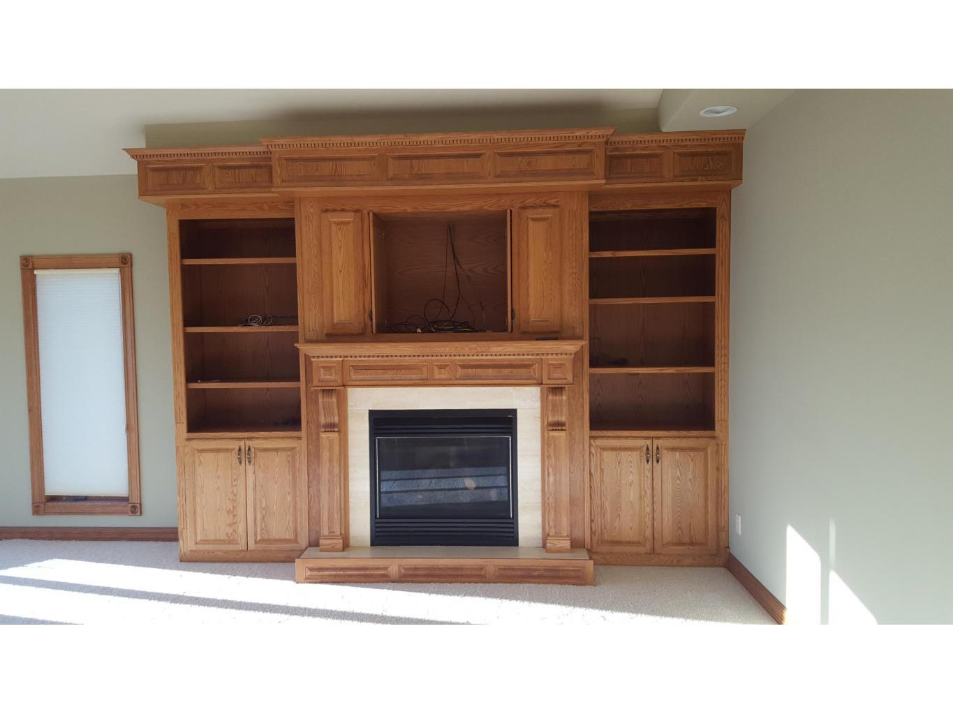 Gas Fireplace with built-ins