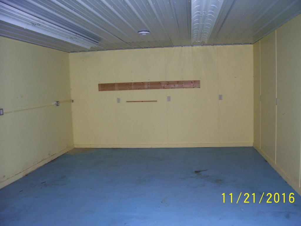 Inside room of garage