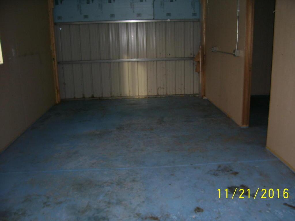 Work area in garage