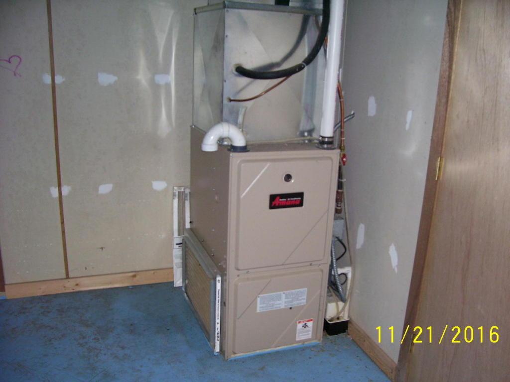 Furnace in garage