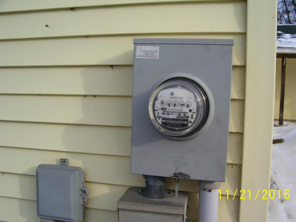 Ealectrical meter on garage