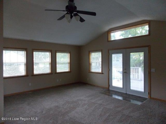 great room leads to large deck