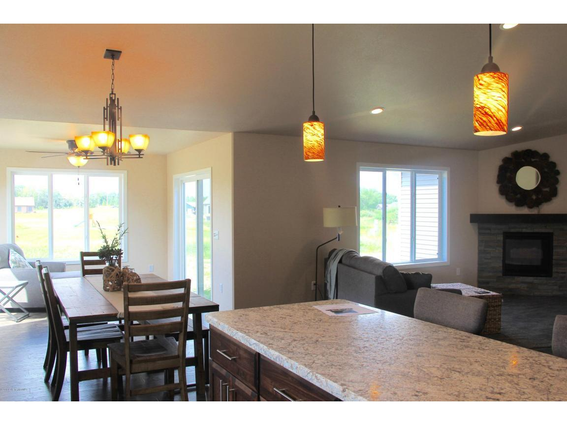 Kitchen to Dining and Living Rooms