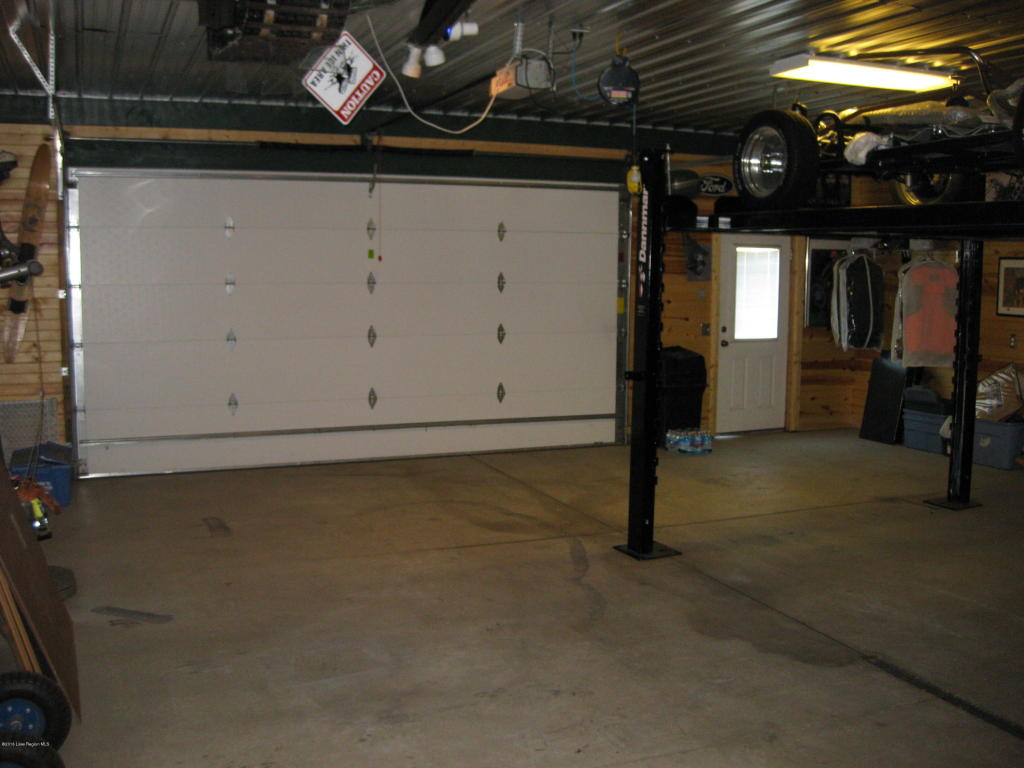 Heated garage space