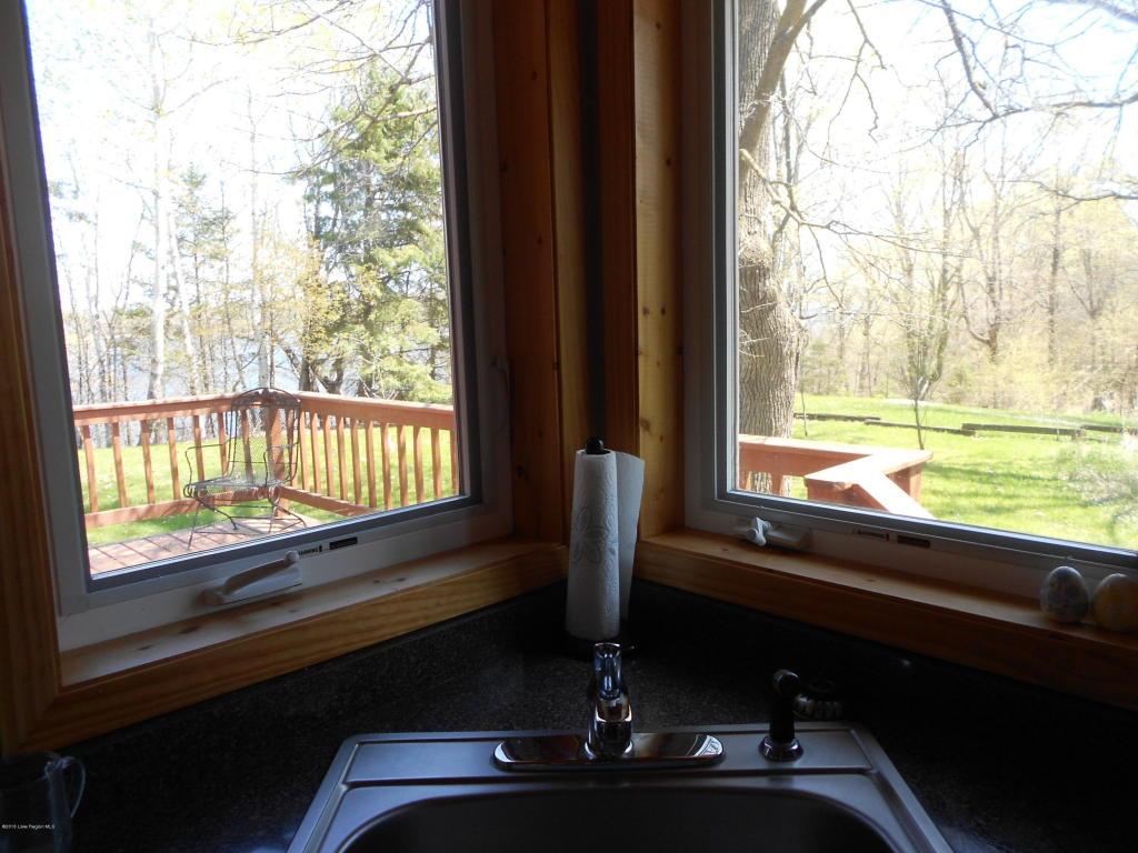 View from kitchen corner sink