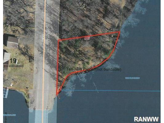 Land/Lot. Ten Mile parcel provides great water access Lot is not buildable