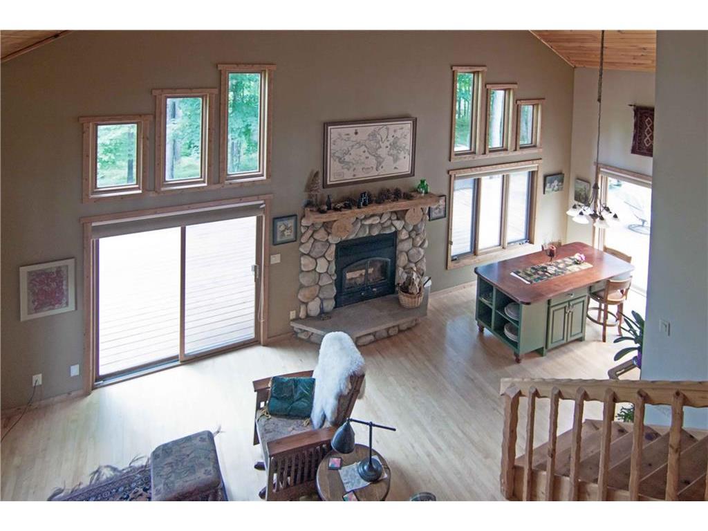 Livingroom/great room view from loft bedroom.