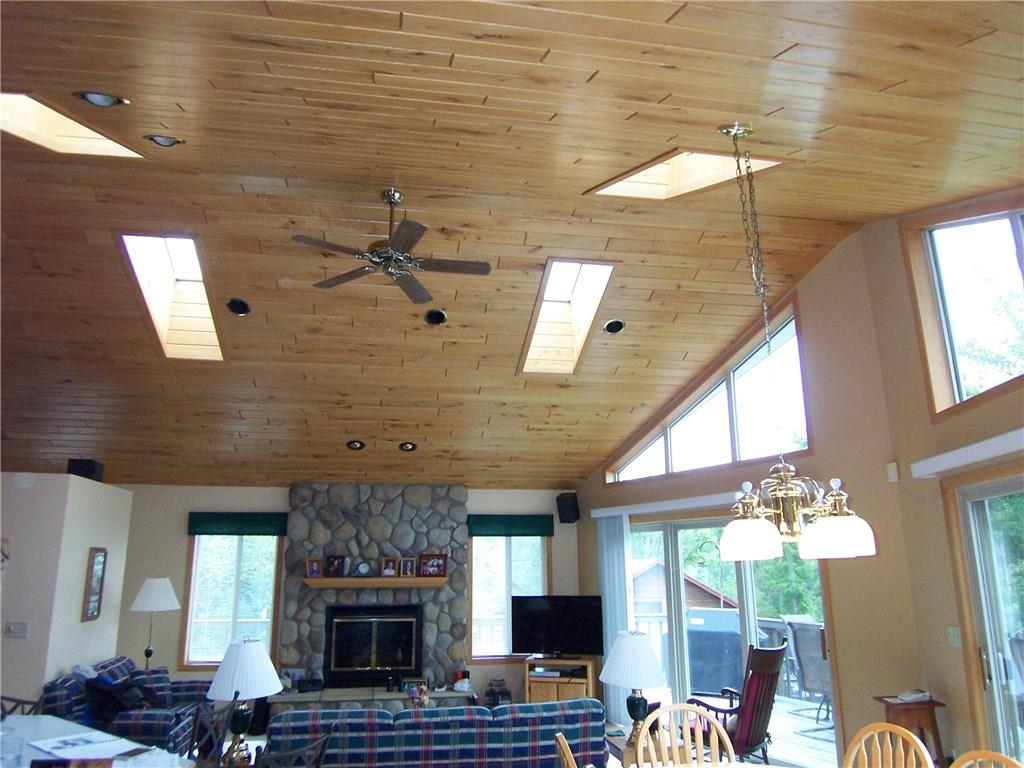 Ceiling with all skylights
