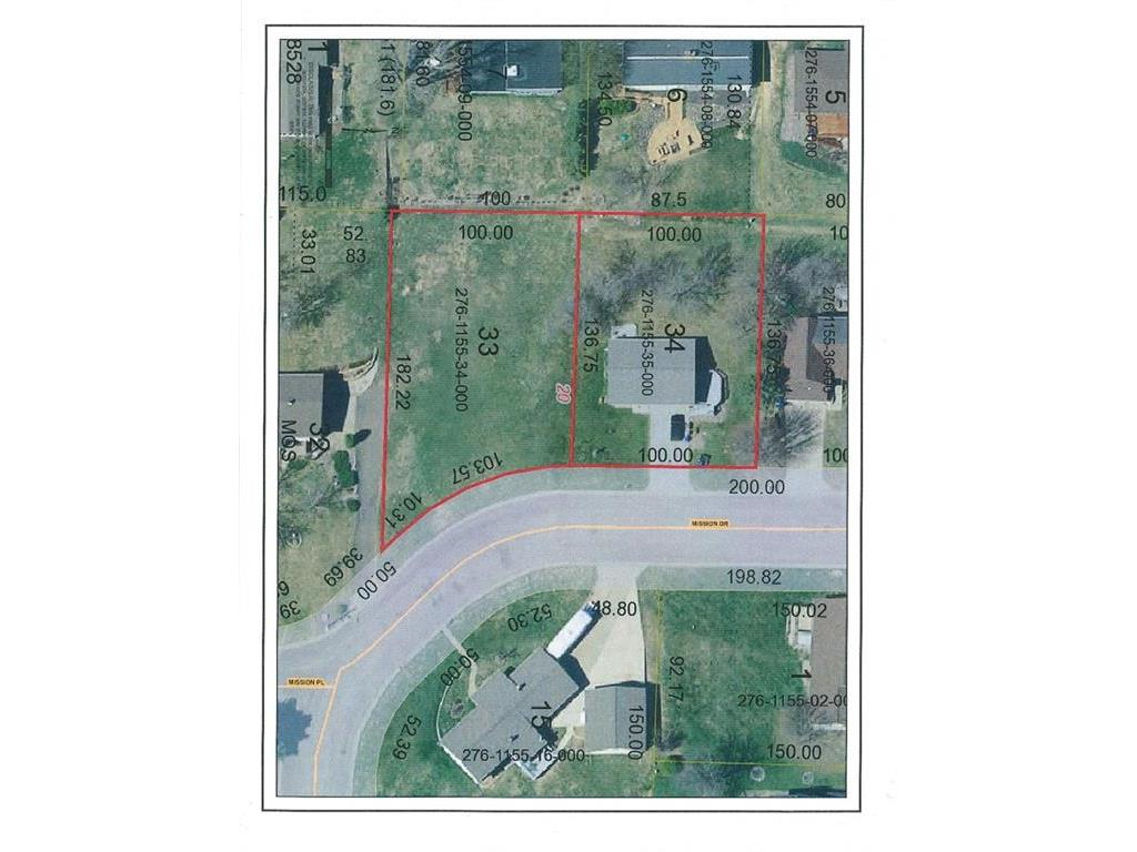 Aerial showing both home parcel and 2nd parcel that can be purchased. 2nd parcel is not included - please see MLS 1502649.