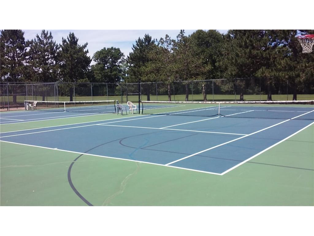 Tennis courts were recently resurfaced. There is an informal tennis league that plays Monday/Wednesday/Friday mornings during the warm months.