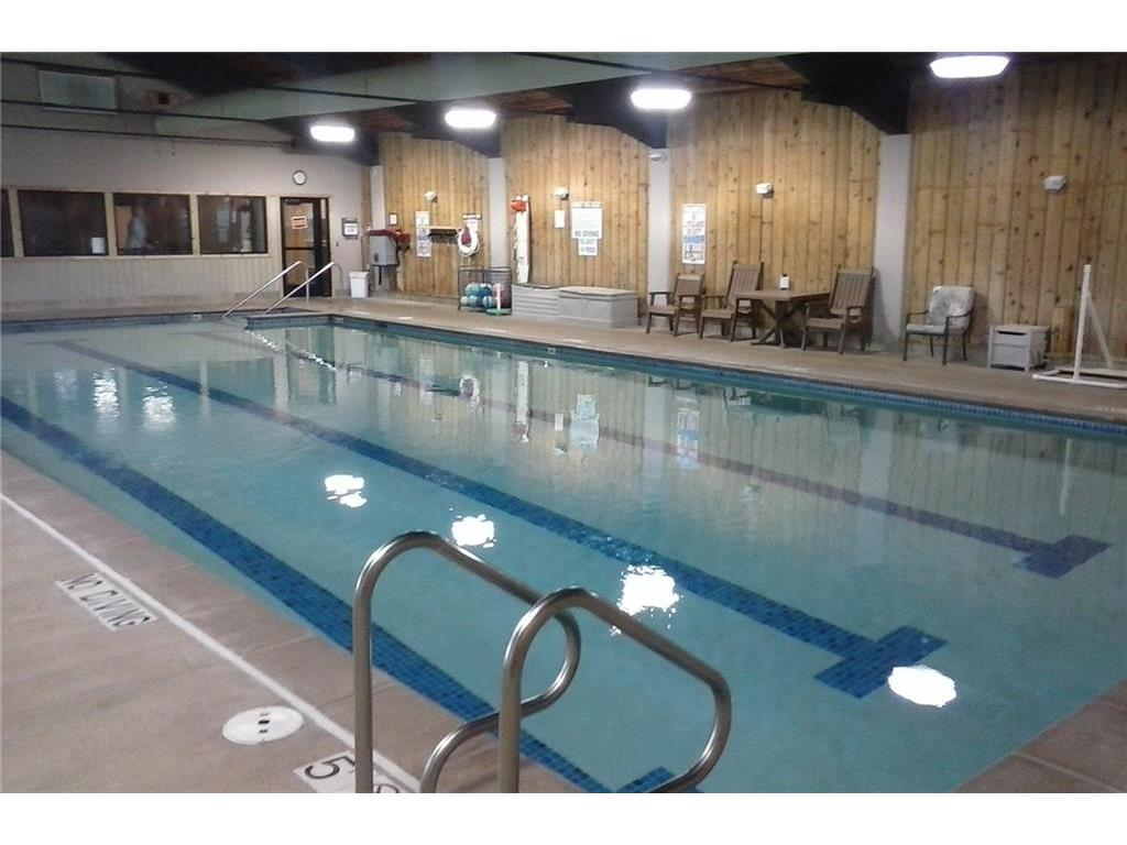 The indoor pool is open year round and heated to 84 degrees.