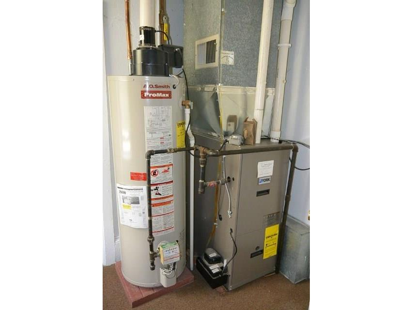 Updated furnace and water heater