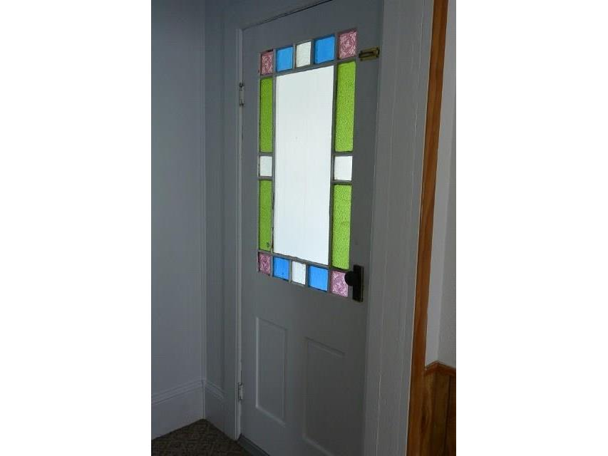 Original stained glass front door!