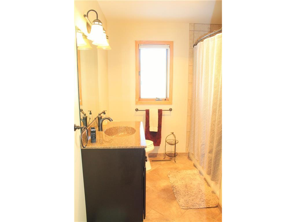 Remodeled 2nd bath with new ceramic tile, fixtures and vanity