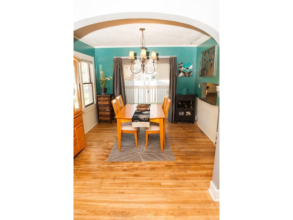 Bright and cheery formal dining room.