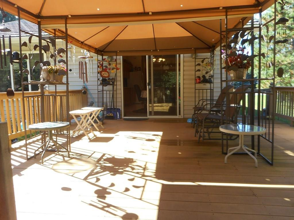 Covered composite deck with great space to entertain, grill out and enjoy the wildlife.