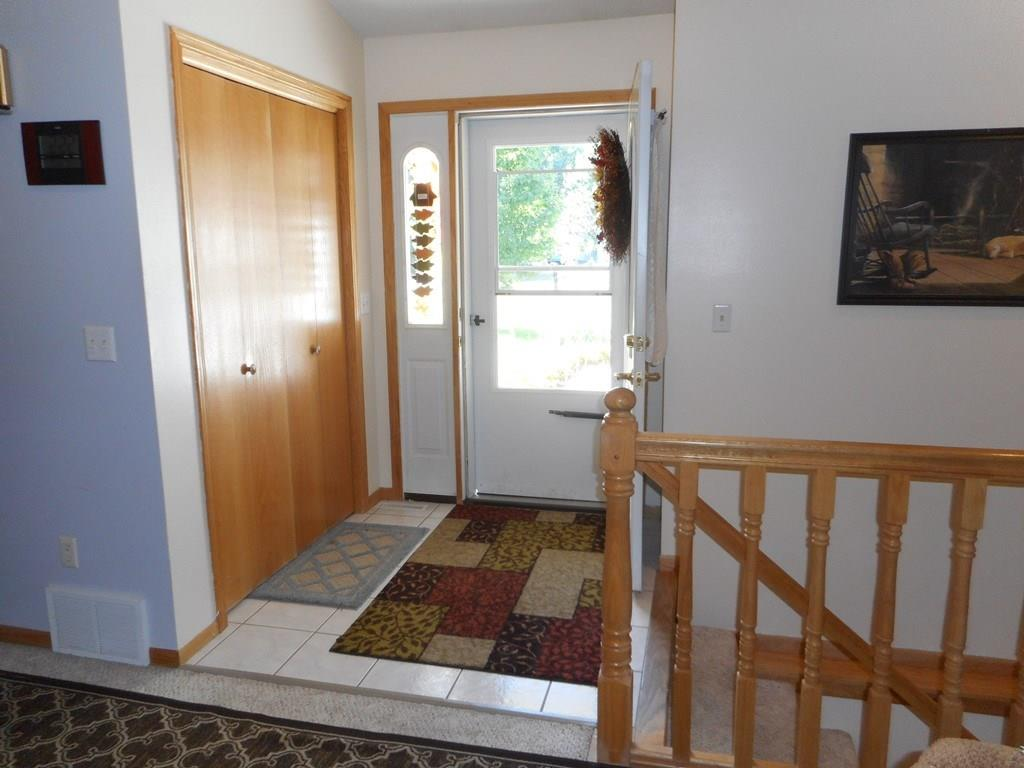 Spacious front entry way