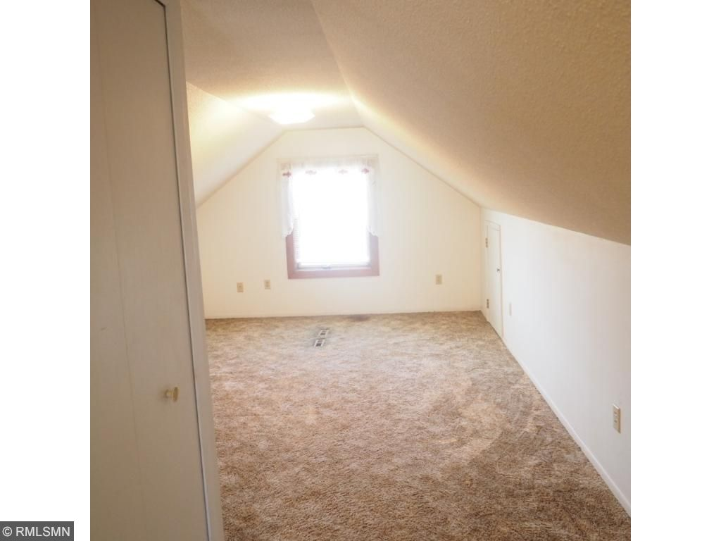 Down stairs bedroom (color on left wall not accurate)