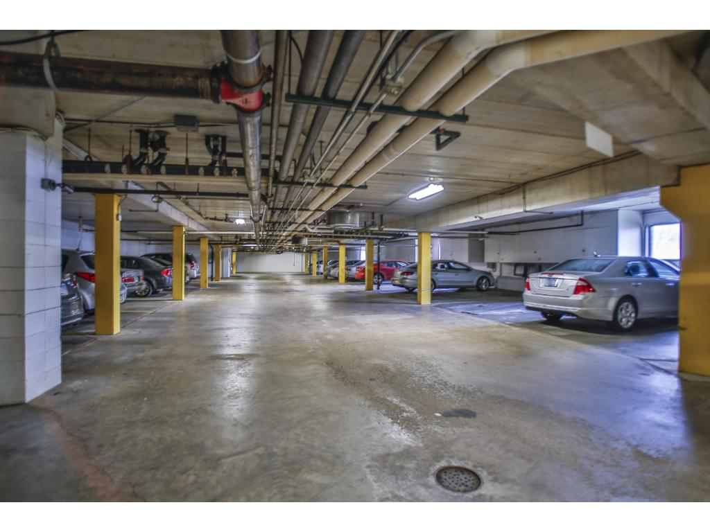 Underground parking is heated and just steps from the stairs.