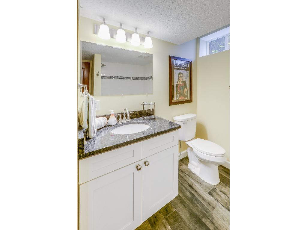 Lower level beautiful bathroom.