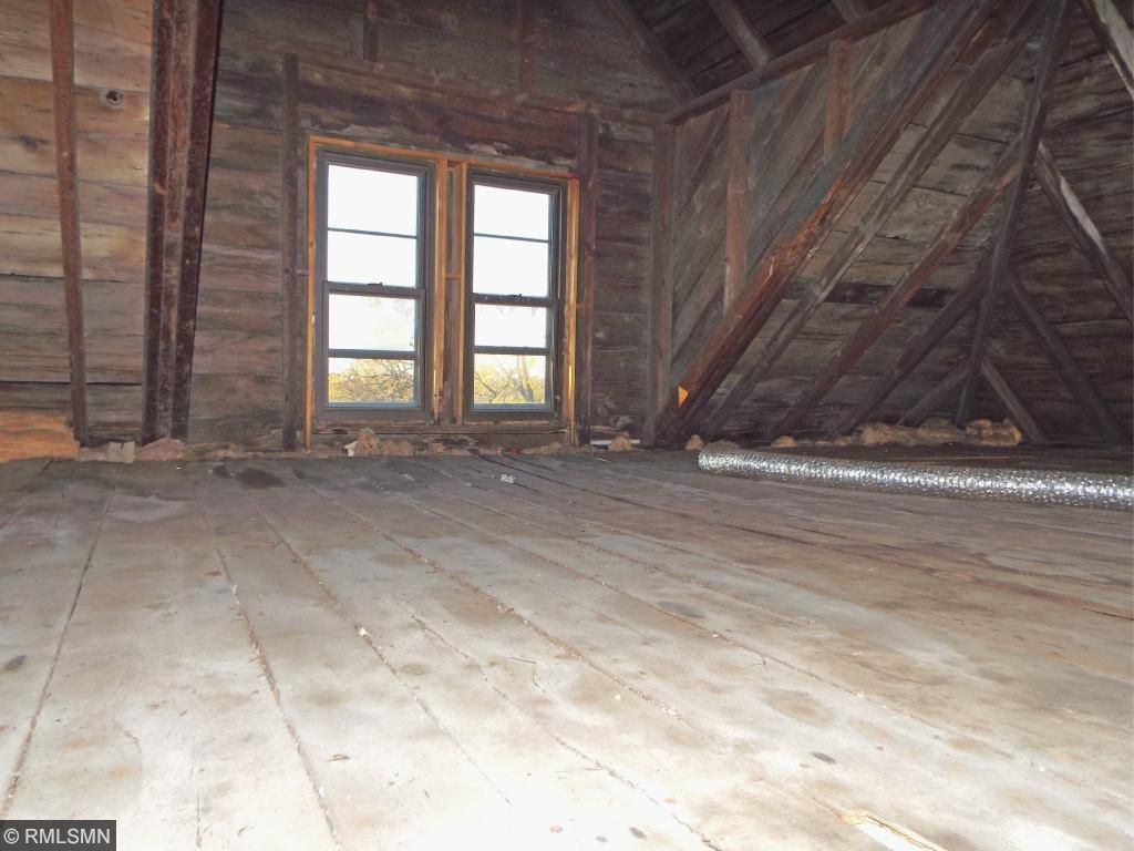 unfinished attic space.