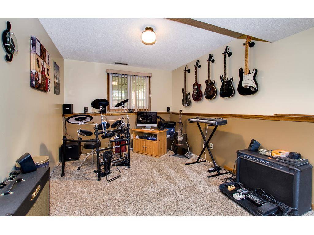 Lower level music room