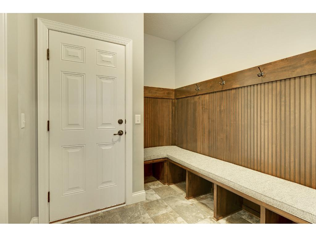 Mud room with custom built in