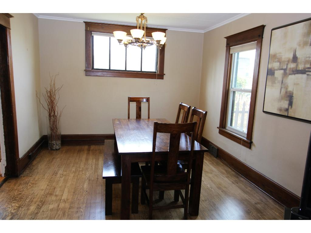 Large dining room off kitchen and living room.