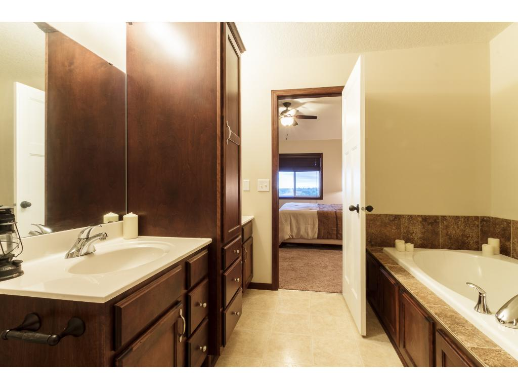 Lots of storage in the master bath.
