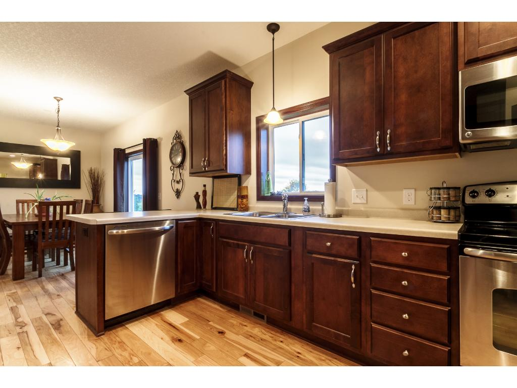 Spacious kitchen opens to informal dining room