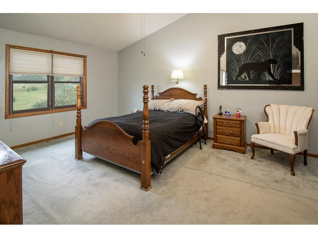 Spacious master bedroom with huge walk in closet and private master bath!