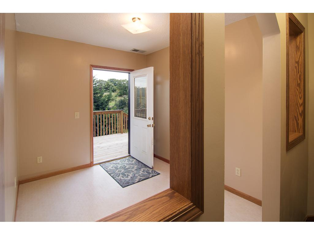 This lower level walks out to the backyard and would make a great mud room!