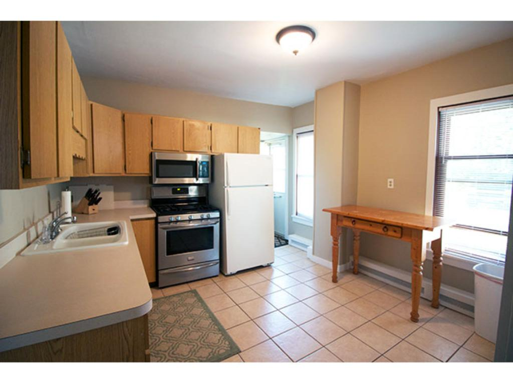 Bright and airy kitchen off the dining room.  Access to backyard and basement.  Newer appliances.  11' x 11'