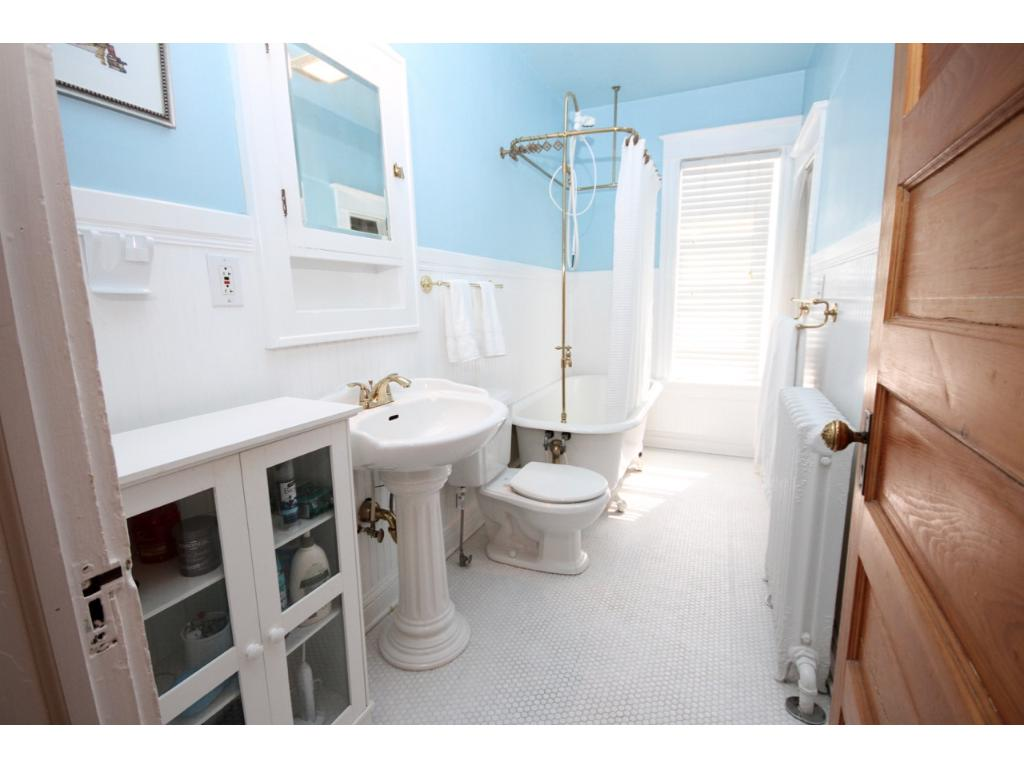 Bathroom with the original claw foot tub!