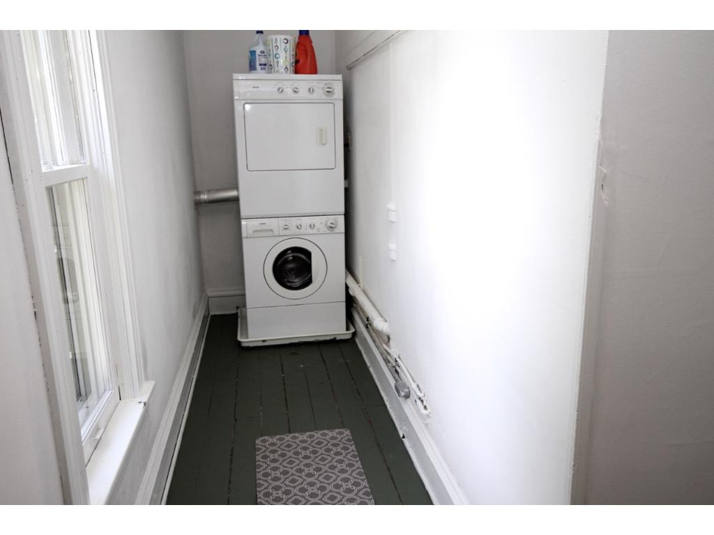 Washer and dryer on the second floor along with plenty of closet space.