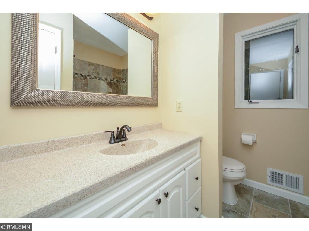 Amazing upper level bathroom with brand new tile!