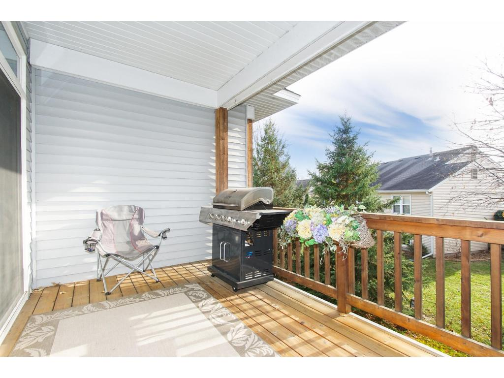 Walk out the glass door from living room or bedroom to enjoy your private deck.