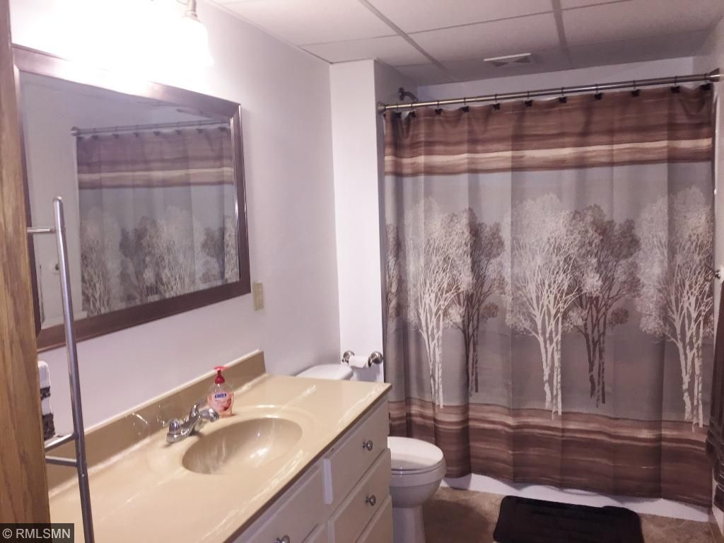 The lower level full bathroom has been remodeled as well.