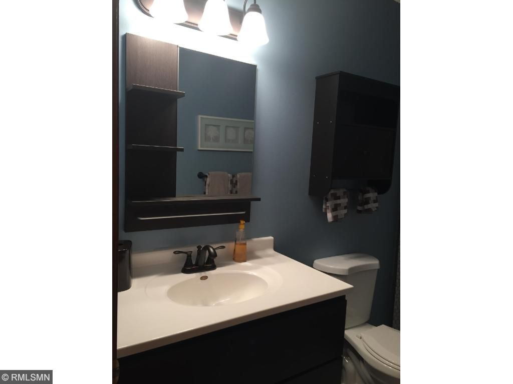 The upper level bathroom has been completely remodeled.